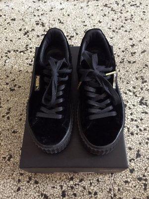 Rihanna puma Creepers Samt Schwarz Gr. 37,5 Plateau Sneakers  Fenti puma