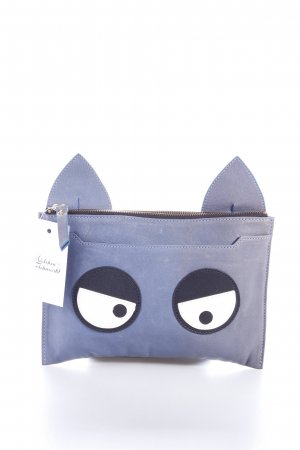 Rika Clutch graublau Comic-Look