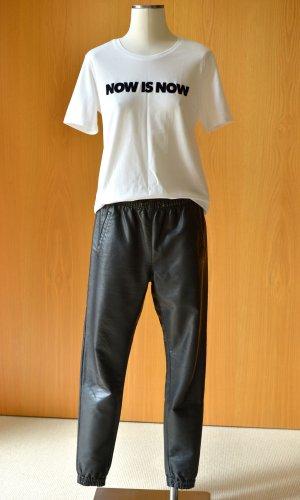 RIKA Lederhose Jogger schwarz 36/38 S/M Joggingpants Leder Etikett