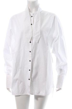 Rika Long-Bluse weiß minimalistischer Stil