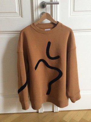 Weekday Sweatshirt bruin-zwart Gemengd weefsel
