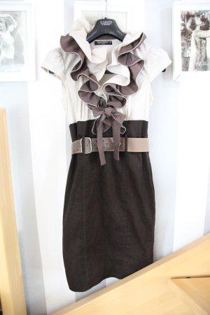 Rinacimiento Kleid Volant Kragen Mit Schleife Größe S/M
