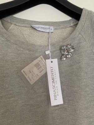 Rinascimento Blusa de túnica gris claro-beige claro