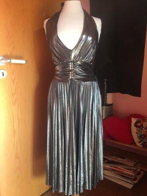 Rinascimento Abendkleid, metallic silber, Plissée