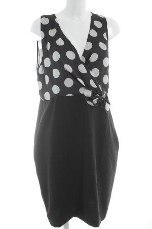 Rinascimento Abendkleid schwarz-weiß Punktemuster Casual-Look