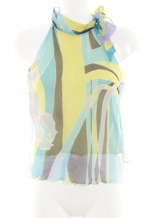 Rinascimento ärmellose Bluse abstraktes Muster Casual-Look
