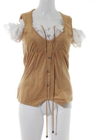 Rinascimento ärmellose Bluse camel-weiß Casual-Look