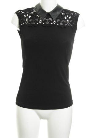 Rinascimento ärmellose Bluse schwarz Elegant