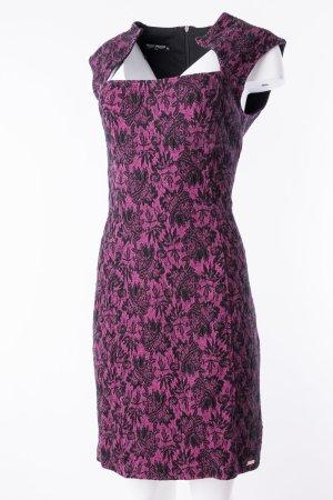 RINASCIMENTO - Ärmelloses Kleid mit Struktureffekt Rosa-Schwarz