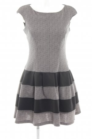 Rinascimento Ballonkleid hellgrau-schwarz Streifenmuster Elegant