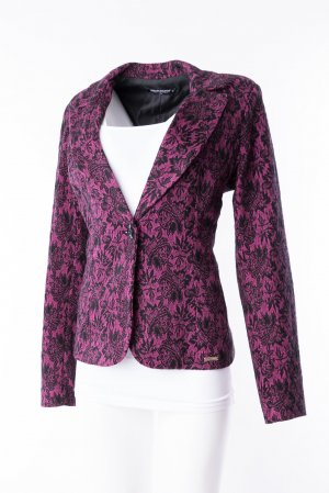 RINASCIMENTO - Blazer mit floralem Muster Lila-Schwarz