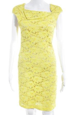 Rinascimento Bleistiftkleid gelb florales Muster Elegant
