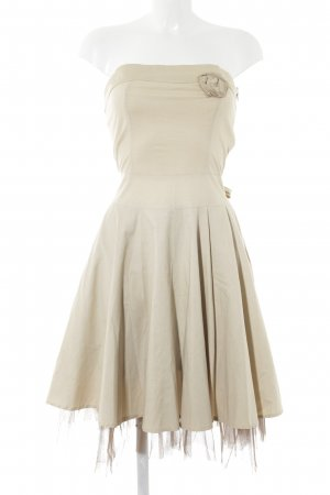 Rinascimento Bustierkleid creme-dunkelbraun Party-Look