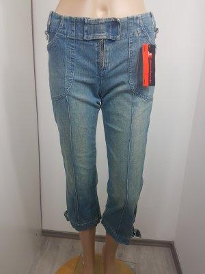 Rinascimento Damen Caprijeans 3/4 Jeans washed pantaloni Größe 36