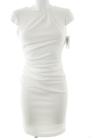 Rinascimento Sheath Dress natural white quilting pattern elegant