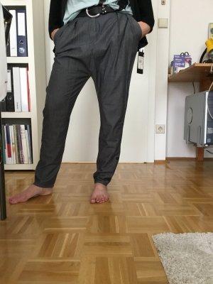 Rinascimento Boyfriend Trousers dark grey cotton