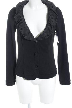 Rinascimento Jerseyblazer schwarz Materialmix-Look
