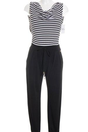 Rinascimento Jumpsuit schwarz-weiß Streifenmuster klassischer Stil
