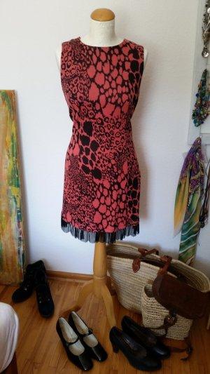 Rinascimento  Kleid Lachs Schwarz Muster Gr. S