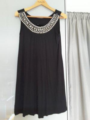 Rinascimento Kleid Schwarz mit Steinchen besticktem Auschnitt