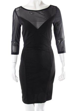 Rinascimento Kleid semitransparent schwarz