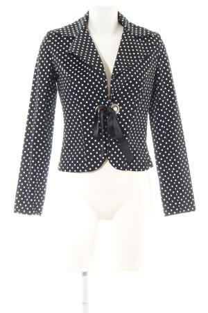 Rinascimento Kurz-Blazer schwarz-weiß Punktemuster Business-Look