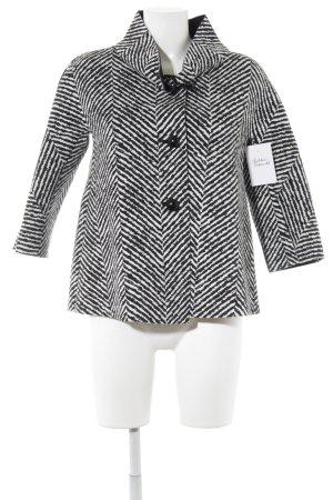 Rinascimento Kort jack zwart-wit gestreept patroon klassieke stijl