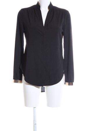 Rinascimento Langarm-Bluse schwarz Business-Look