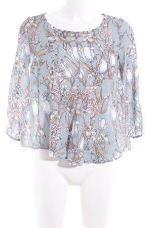 Rinascimento Langarm-Bluse florales Muster extravaganter Stil