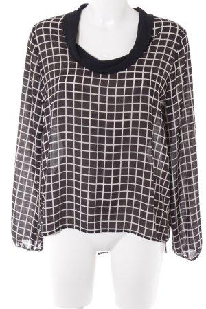 Rinascimento Langarm-Bluse schwarz-weiß Street-Fashion-Look