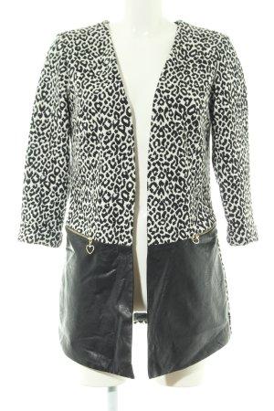 Rinascimento Long-Blazer weiß-schwarz extravaganter Stil
