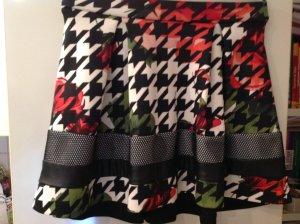 Rinascimento Minirock, ausgestellt, schwarz-bunt, Gr.M, 1mal getragen