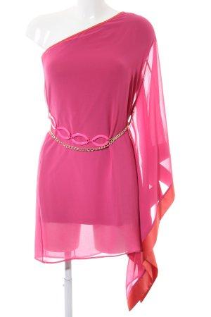 Rinascimento Vestido de un hombro rosa look casual