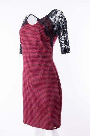 RINASCIMENTO - Rot-Schwarzes Kleid mit 3/4 Spitzenärmeln