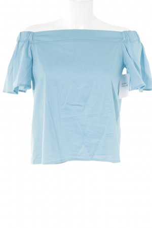 Rinascimento Schlupf-Bluse neonblau-hellblau Beach-Look