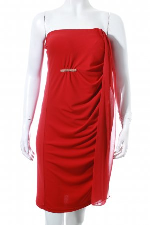 Rinascimento schulterfreies Kleid rot Party-Look