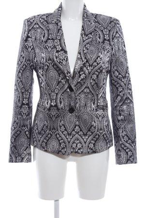 Rinascimento Tuxedo Blazer black-light grey allover print casual look