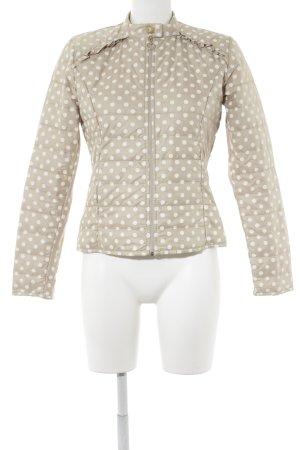 Rinascimento Veste matelassée blanc-beige motif de tache style romantique