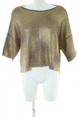 Rinascimento Knitted Jumper gold-colored elegant
