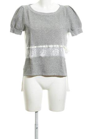 Rinascimento T-Shirt hellgrau-weiß Allover-Druck Casual-Look