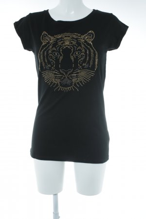 Rinascimento T-Shirt schwarz-goldfarben Street-Fashion-Look