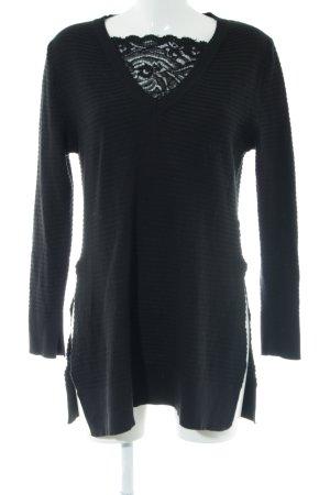 Rinascimento V-Ausschnitt-Pullover schwarz Casual-Look