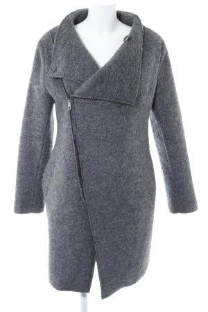 Rinascimento Cappotto in lana grigio-grigio scuro puntinato stile casual