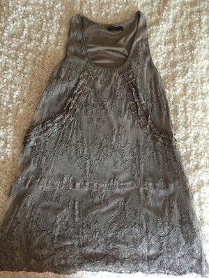 Rinascrimento Spitzenkleid, Sommerkleid mit Spitze, taupe, Gr.: L