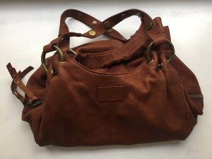 Strenesse Blue Shoulder Bag brown-cognac-coloured leather