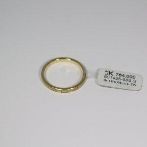 Ring 585 Gelbgold. 12 Brillanten 0.06ct Si/TW. Gr. 54. Neu. UVP 764€. Handgefertigt in Deutschland.