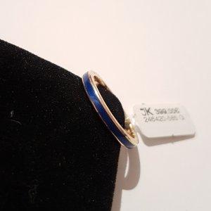 Ring 585 Gelbgold Blau Emailliert Größe 55. Ungetragen. UVP 399€. Handgefertigt in Deutschland
