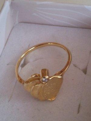 Ring 585 Gold Ring mit Diamanten