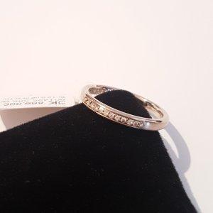 Ring 585 Weißgold. 12 Brillanten 0.06ct Si/TW. Gr. 54. Neu. UVP 869€. Handgefertigt in Deutschland.