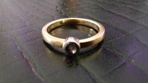 Anillo de oro marrón arena-gris pizarra oro verdadero